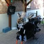 Reifenwechsel mit Polo Montageständer.